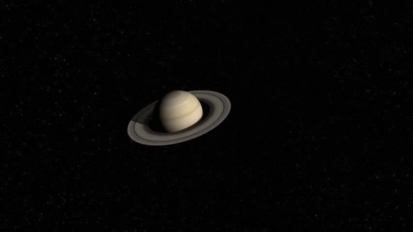 Cassini Satellite Approaches Saturn's Moon, Enceladus. HD ...