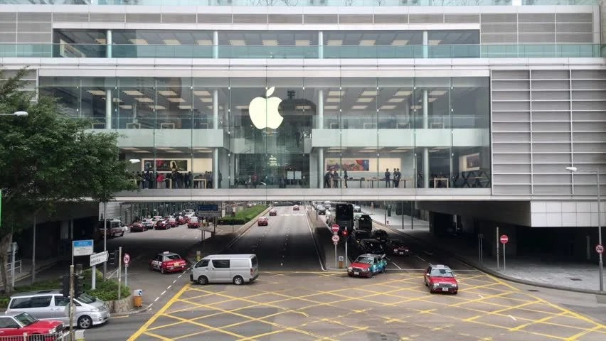 Stock video of osaka japan   april 22     3830723   Shutterstock hd00 11HONG KONG  CHINA   MARCH 16  2017  Apple Store in the city center   The first Apple Store in Hong Kong