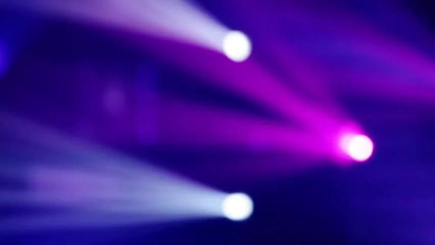 Blurred Spotlights Flash Color, Black Background. 1080p ...