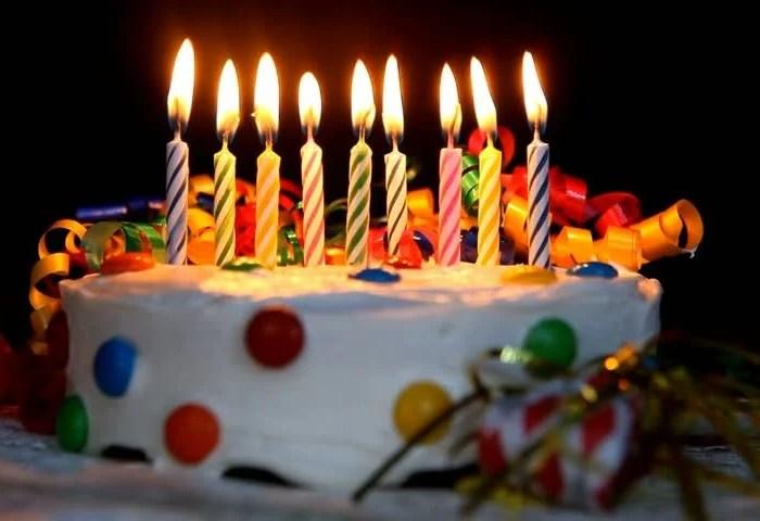 Time Lapse Burning Birthday Cake Stock Footage Video 100