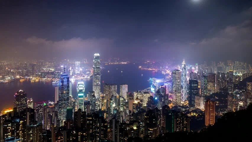 Shanghai At Night. Time Lapse. High Quality Footage ...