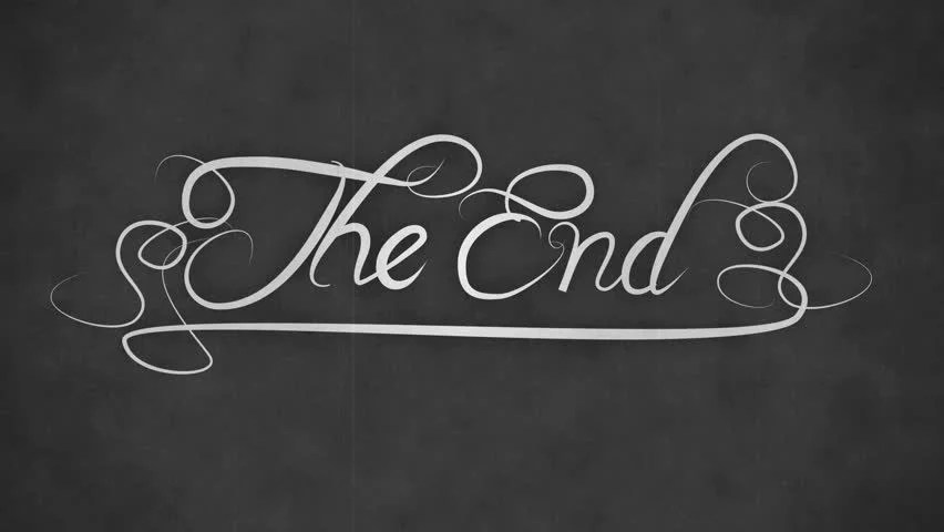 Animation Of A Retro Vintage Old Fashioned End Title As