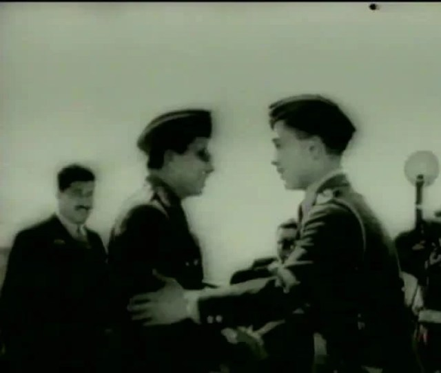 King Hussein Of Jordan Greets King Faisal Ii Of Iraq During The Visit Of Premier Nuri