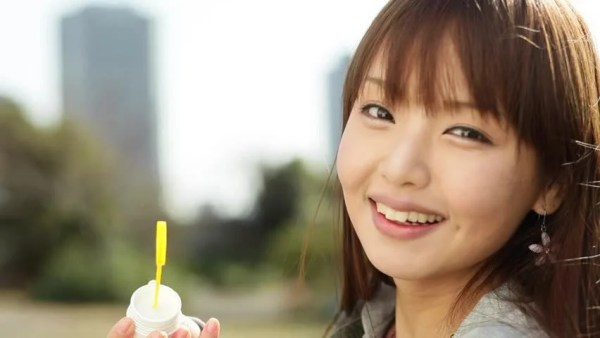Stock video of attractive young japanese girl portrait