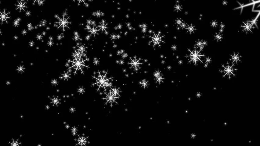Wonderful Christmas Video Animation With Moving Snowflakes