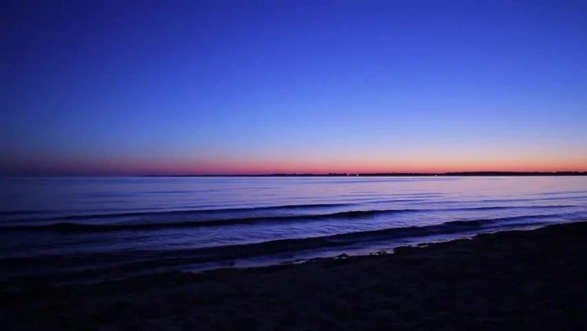 Sunrise On The Beach Night Stock Footage Video 100