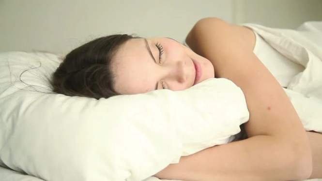 Young Attractive Hy Sleeping Soundly On Bed In Bedroom At Home Or Hotel Cuddling