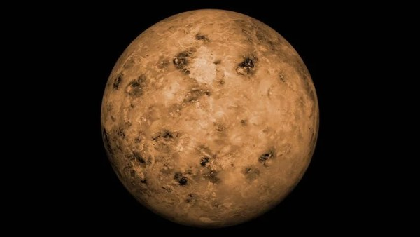 Animated One Revolution Of Planet Venus With Correct
