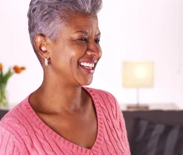 Happy Mature Black Woman