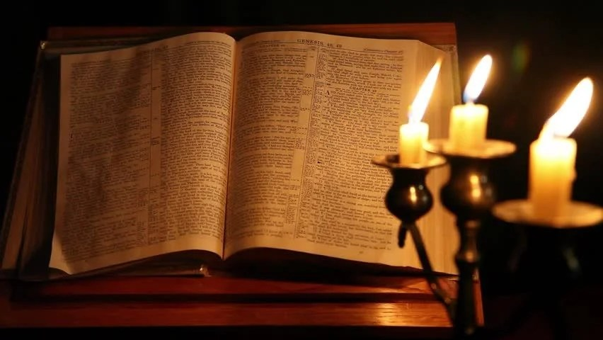 Image result for bible with candle