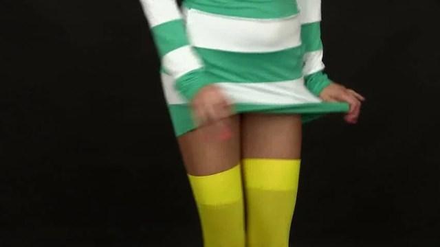 Sexy Young Woman Lifting Skirt