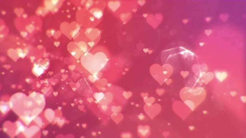Shining Hearts Bokeh Loopable Romantic Background Stock
