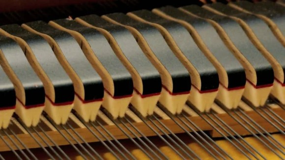 Piano Hammers Playing Keys Closeup, Stock Footage Video ...