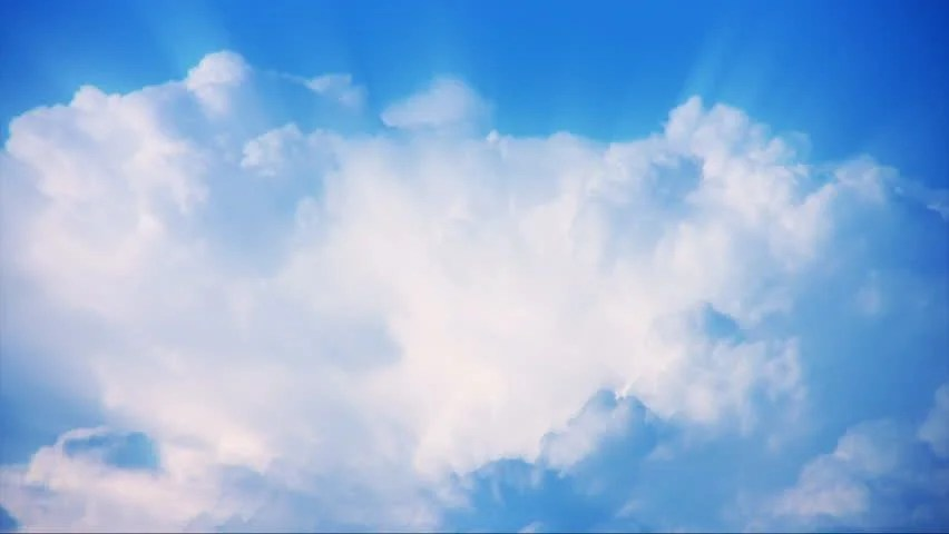 Timelapse Heavenly Sky Clouds 55 Loop Stock Footage Video