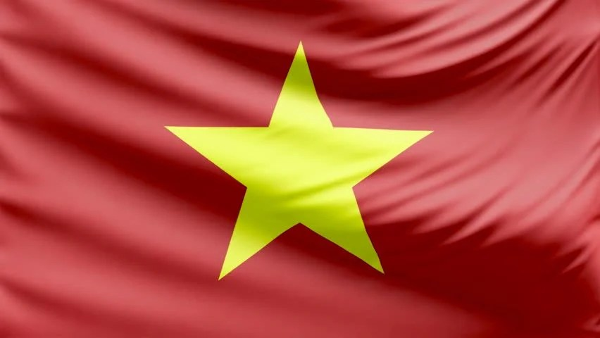 Realistic Beautiful Vietnam Flag 4k Stock Footage Video