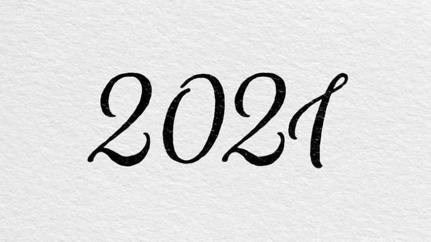 animated  stripes new year 2020 number  effects