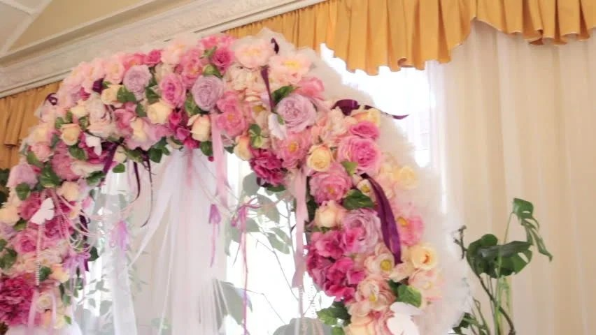 Wedding Decoration, Wedding Arch Of White Paper Flowers