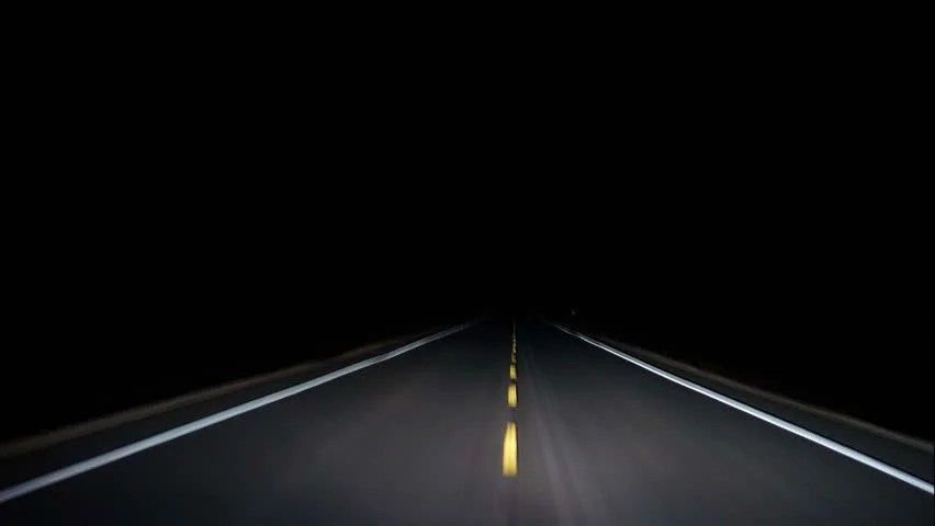 Image result for long isolated road in dark