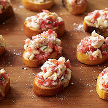 Image of  Lemon-Rosemary White Bean Bruschetta