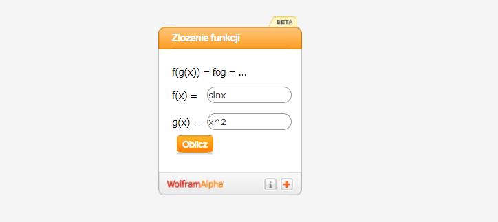 Kalkulator do złożenia funkcji