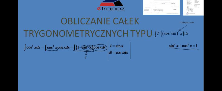 Lekcja 7 – Całki trygonometryczne