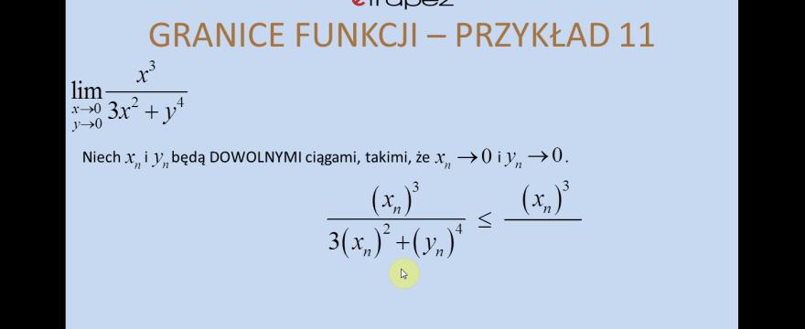 Lekcja 10 – Granice funkcji wielu zmiennych