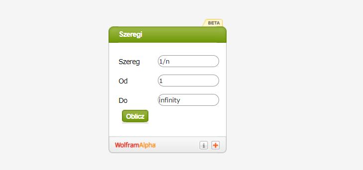 Kalkulator do szeregów