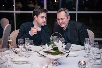 Od lewek: Szef Witek Iwański oraz Jacek Szklarek, Prezes Slow Food Polska