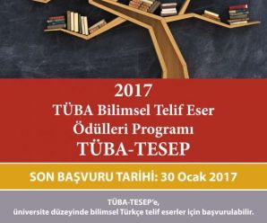 TÜBA Bilimsel Telif Eser Ödülleri başvuruları başladı