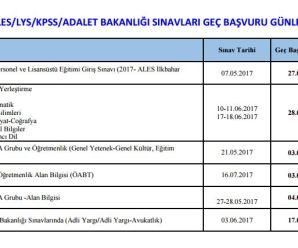 LYS, ALES, KPSS ve Adalet Bakanlığı sınavlarına  başvuramayan adaylar için ek süre