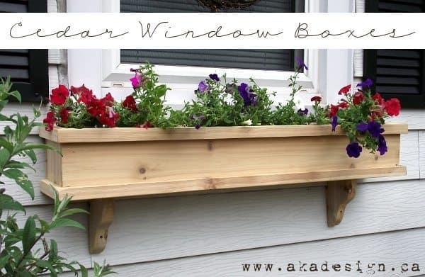 cedar window box plans