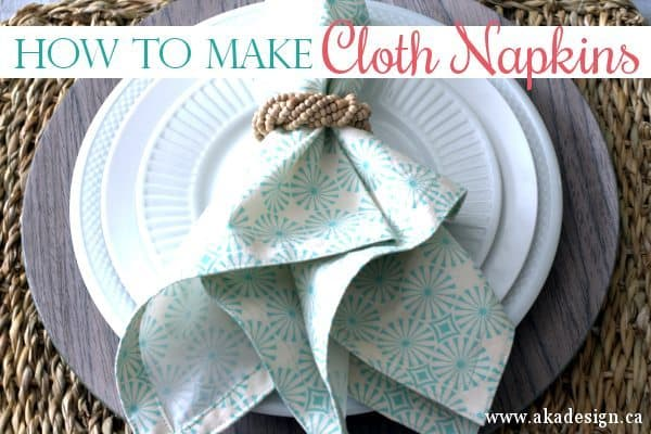 How To Make Cloth Napkins