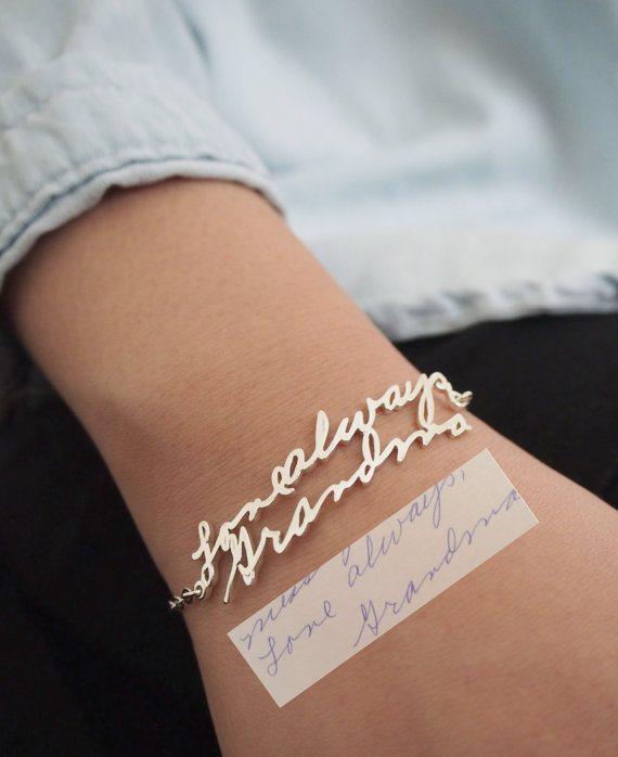 Memorial Signature Bracelet