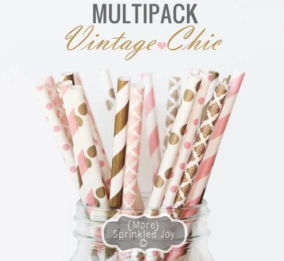 Vintage Paper Straws