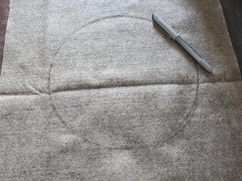 AKA Design Felt Wreath Pillow Trace Plate 1 BLOG PIC