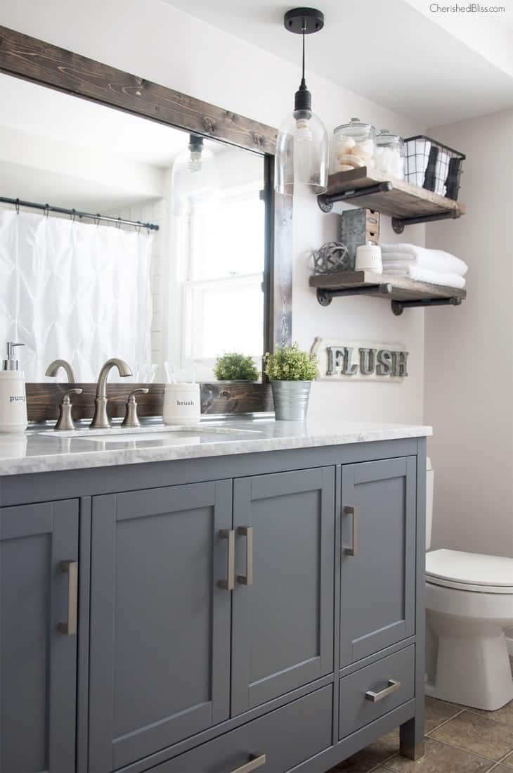 Farmhouse Home Decor - The 36th AVENUE on Farmhouse Bathroom Ideas  id=81272
