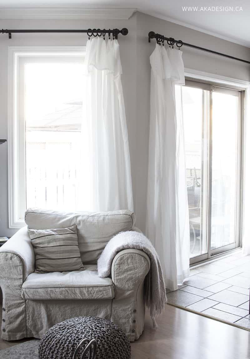 Inexpensive Curtains - Ikea Curtain Hack on Farmhouse Curtain Ideas For Living Room  id=33344