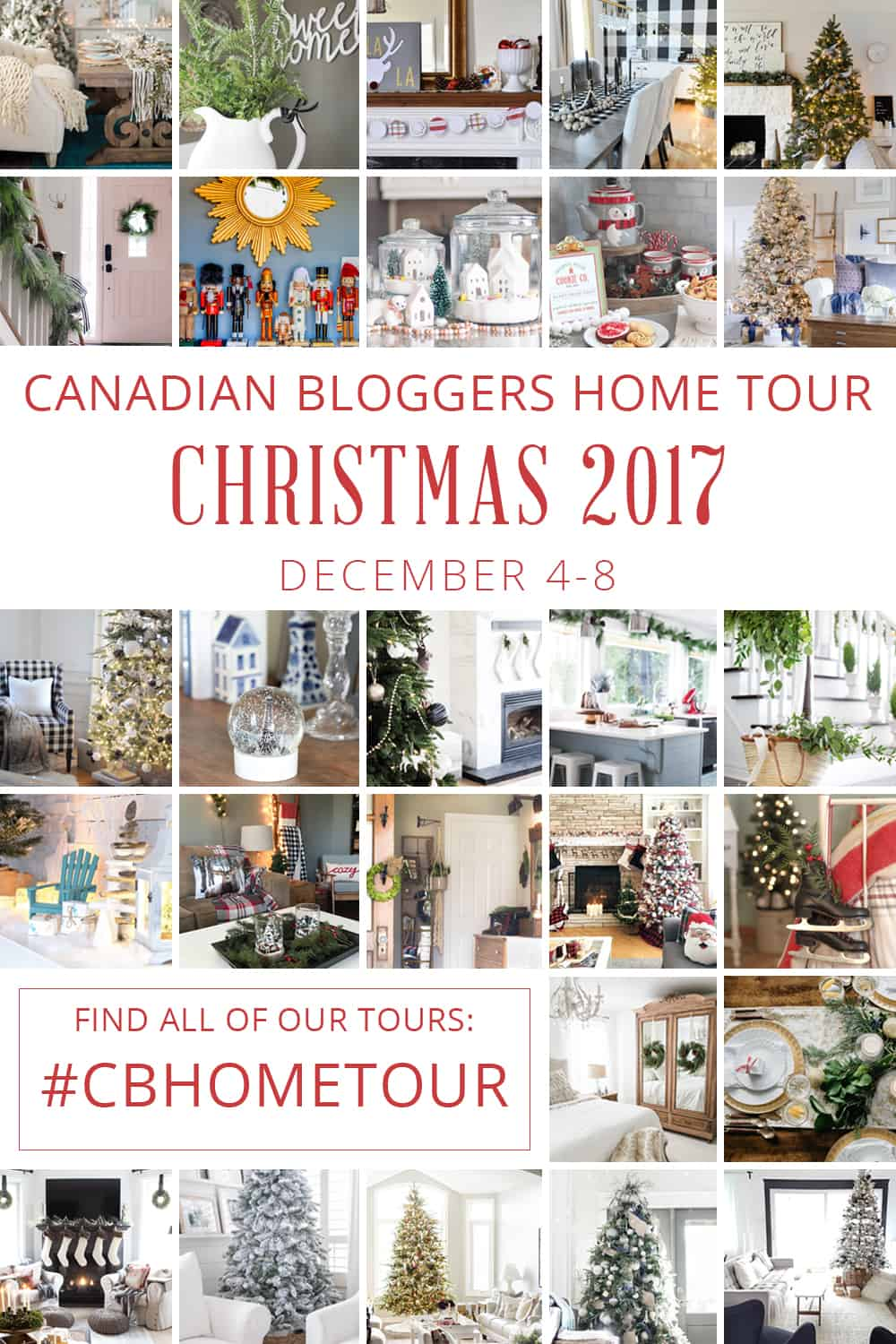 Canadian Bloggers Home Tour Christmas 2017 pin img