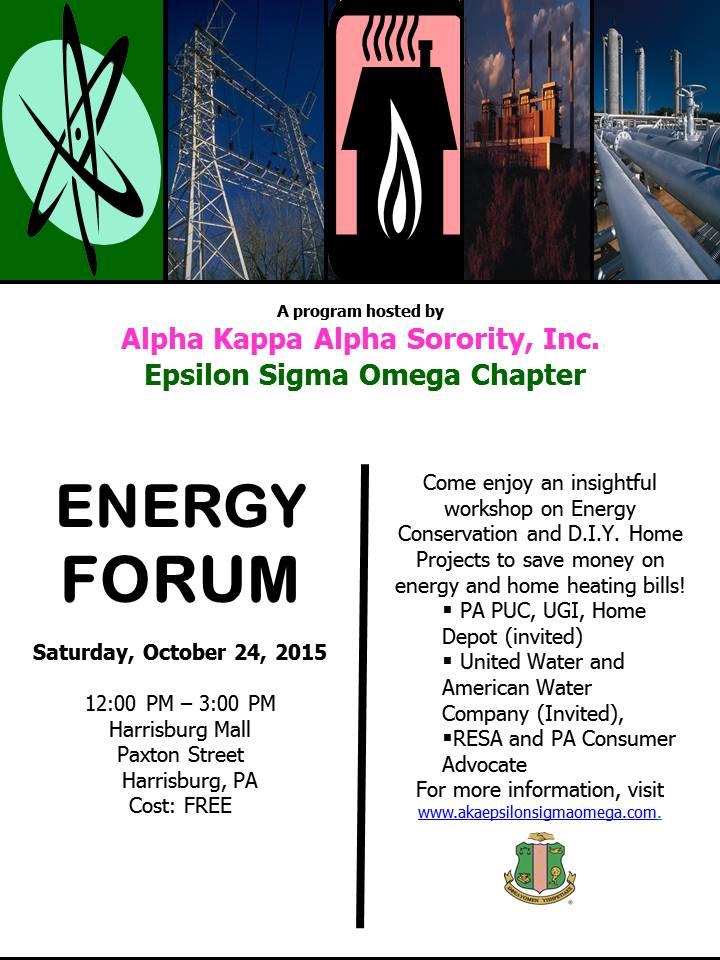 2015 Flyer for Energy Forum