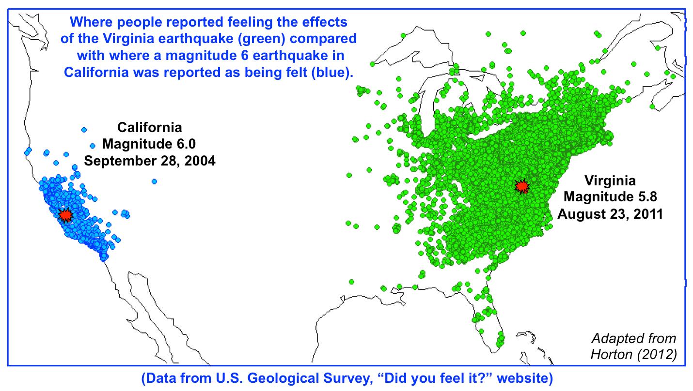Earthquake History Map California