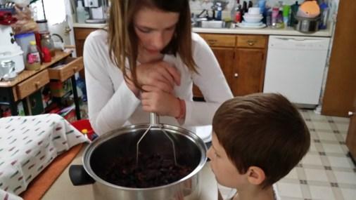 Jenna Smashing Berries