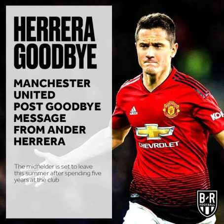 Manchester United Confirm Ander Herrera Exit, Fans React (Photos)