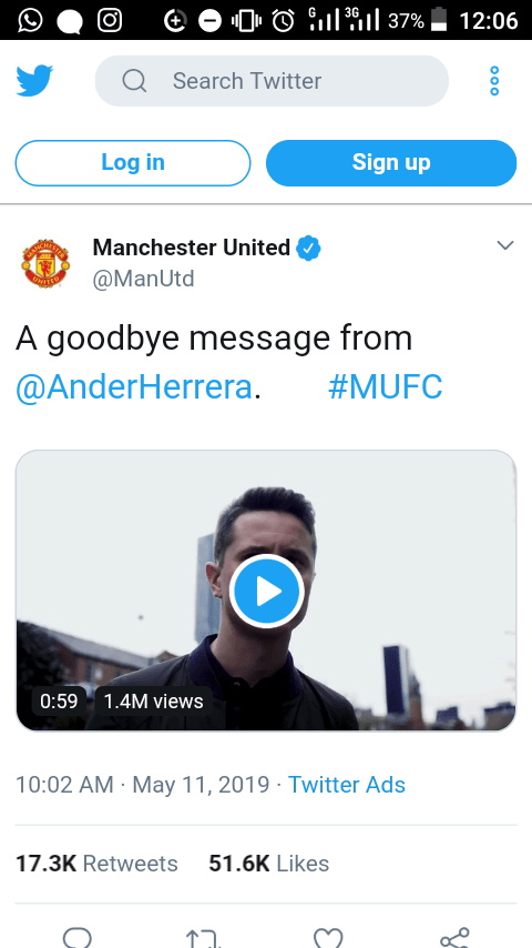 Manchester United Confirm Ander Herrera Exit, Fans React (Photos)2