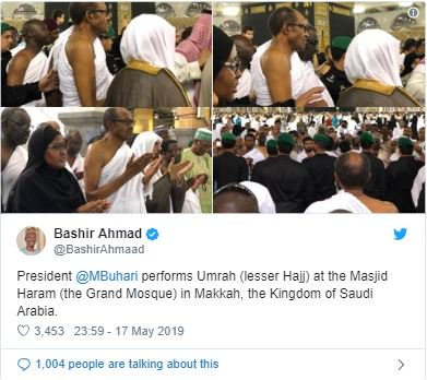 Photos Emerge Online Showing How Buhari Ran In Mecca During Lesser Hajj1