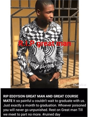 Final year student allegedly poisoned to death lindaikejisblog 2