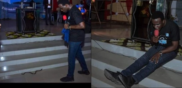 """Image result for Snake Reportedly Attacks RCCG Pastor On Altar (Photo)"""""""