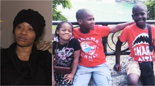 Image result for Nigerian mother who lost her three children in New Year Day accident in Canada, makes solemn promise to them as she buries them (video)
