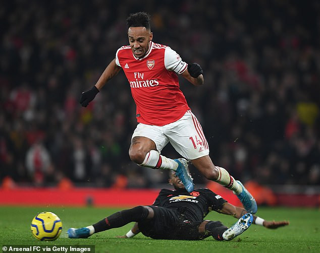Pierre-Emerick Aubameyang takes a swipe at Manchester United fans with four-word message after Arsenal 2 - 0 win