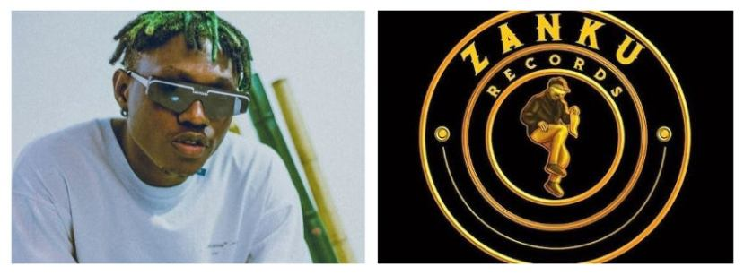 Zlatan Ibile and the logo of his record label