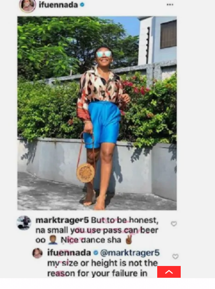 BBNaija Star, Ifuennada fights dirty with a follower who compared her body to a 'beer can'